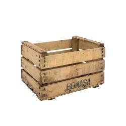Pack 6 cajas de madera antigua natural