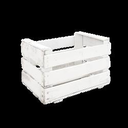 Pack 6 cajas de madera antigua color blanco