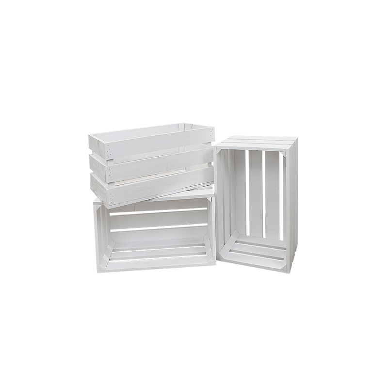 Pack 3 cajas color blanco grandes venta de todo tipo de - Comprar cajas de fruta ...
