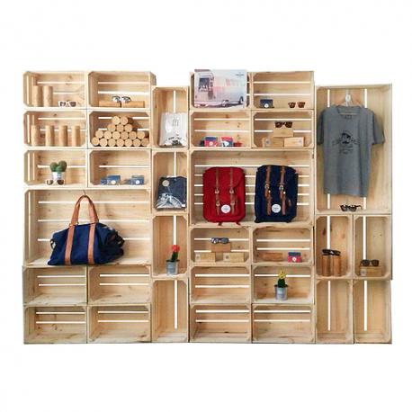 Pack estanter a armario abierto venta de todo tipo de cajas de madera online - Estanterias con cajas de fruta ...