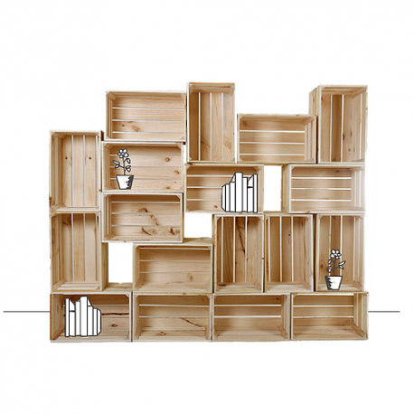 Pack estanter a 18 cajas grandes venta de todo tipo de for Estanterias con cajas de madera
