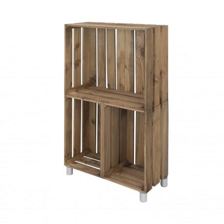 Mueble estantería vertical envejecido