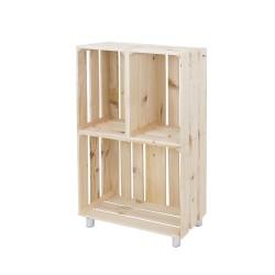 Mueble estantería vertical natural