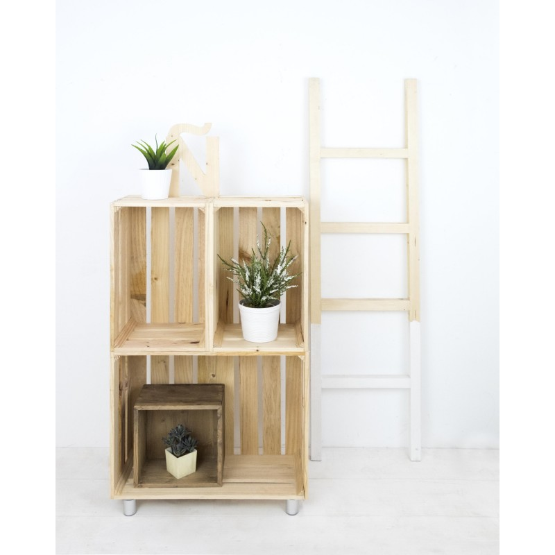 Mueble estanter a vertical natural venta de todo tipo de - Muebles en madera natural ...
