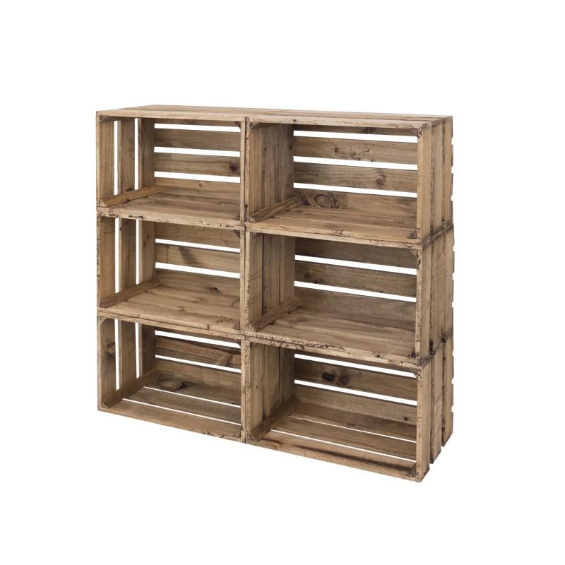 Pack 6 cajas grandes envejecidas venta de todo tipo de cajas de madera online Cajas de fruta de madera