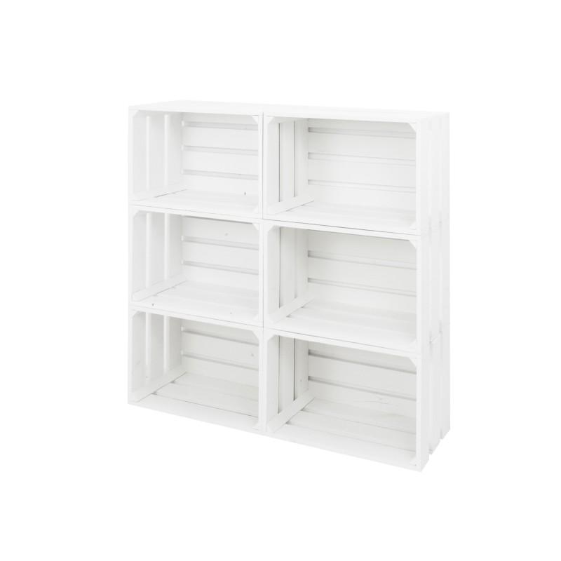 Pack 6 cajas grandes blancas venta de todo tipo de cajas for Cajas de madera blancas