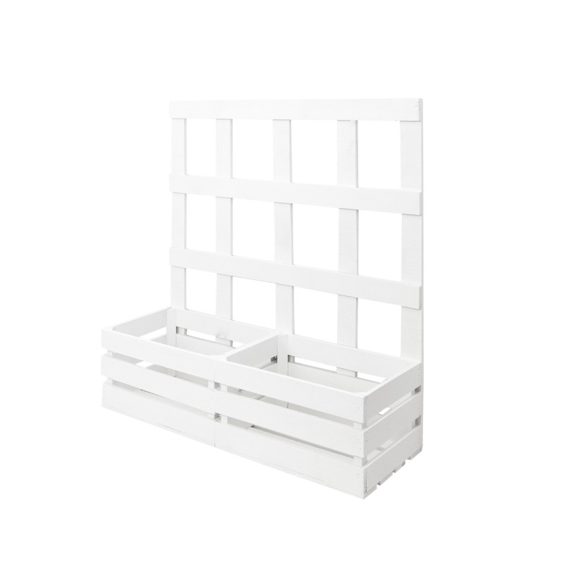 Jardinera enredadera blanca venta de todo tipo de cajas for Cajas de madera blancas