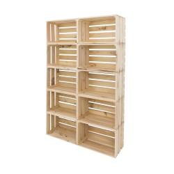 Pack estantería - 10 cajas grandes naturales