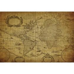 Cuadro horizontal mapa antiguo