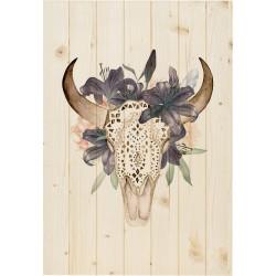 Cuadro vertical búfalo natural