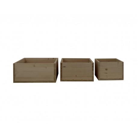Pack 3 cajas cubo envejecidas