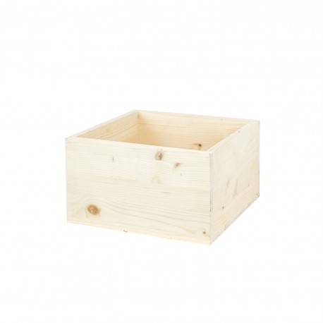 Caja cubo mediano natural