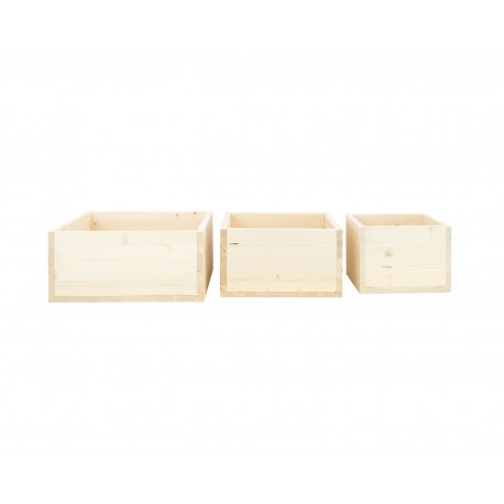 Pack 3 cajas cubo naturales