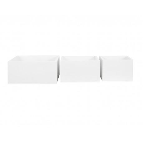 Pack 3 cajas cubo blancas
