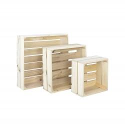 Pack 3 cajas cuadradas naturales