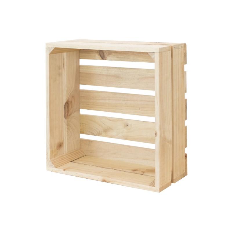 Pack 3 cajas cuadradas naturales venta de todo tipo de cajas de madera online - Cajas de madera online ...
