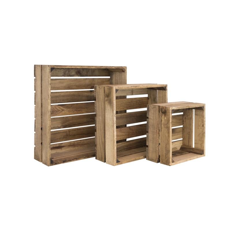 Pack 3 cajas cuadradas envejecidas venta de todo tipo de - Cajas de madera online ...