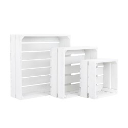 pack 3 cajas cuadradas blancas