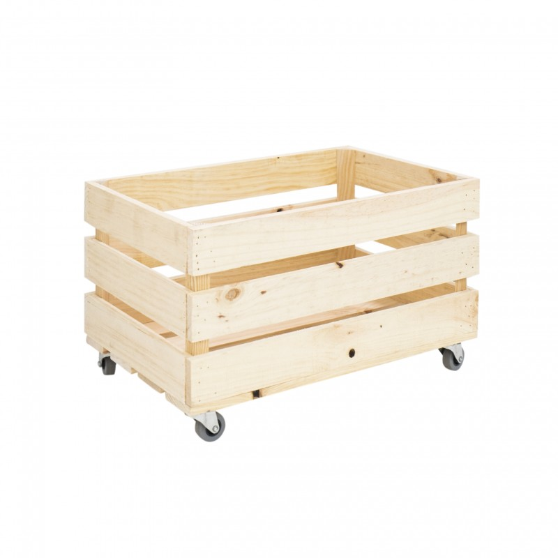 Caja natural grande con ruedas venta de todo tipo de - Cajas de madera online ...
