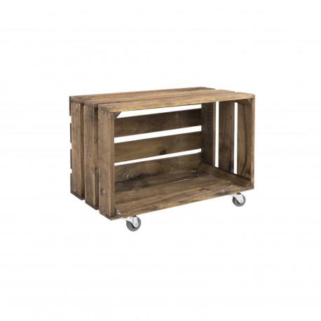 Caja envejecida grande con ruedas horizontal venta de - Caja madera con ruedas ...
