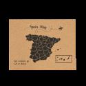 Corcho mapa de europa blanco