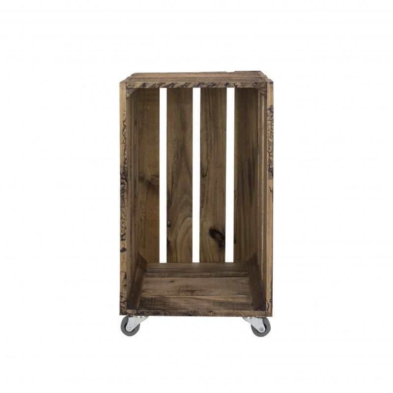 Caja envejecida grande vertical con ruedas venta de - Caja madera con ruedas ...