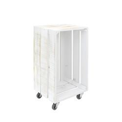 Caja decapada vertical grande con ruedas