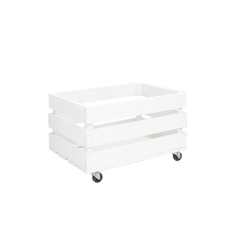 Caja blanca con ruedas venta de todo tipo de cajas de for Cajas de madera blancas