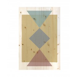 Cuadro vertical formas geométricas