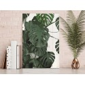 Cuadro vertical hojas botánico