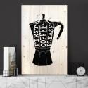 Cuadro vertical first coffee