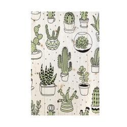 Cuadro vertical ilustración cactus