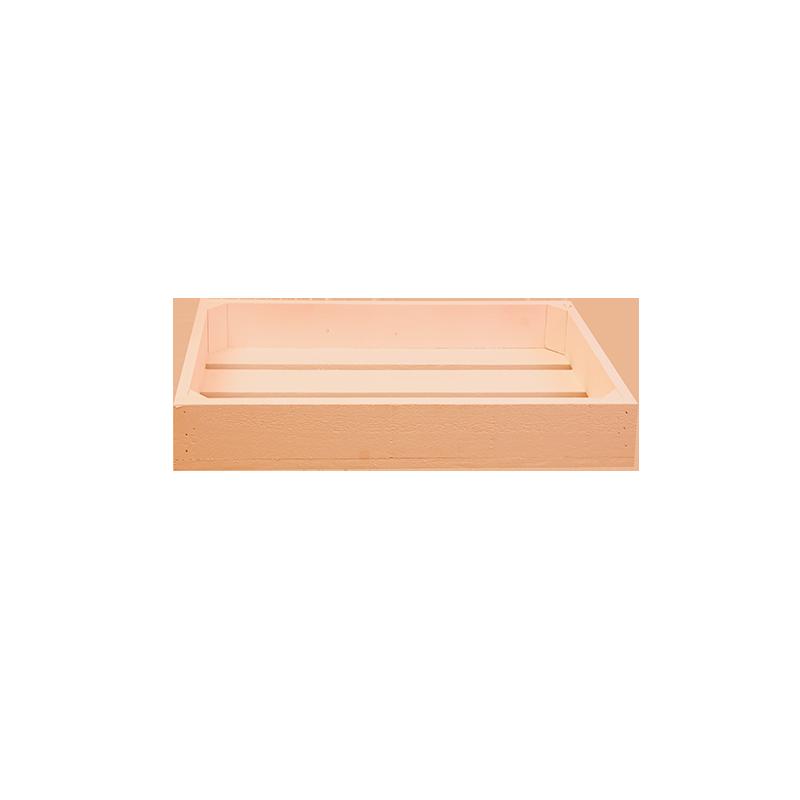 Pack 5 cajas peque as color coral venta de todo tipo de for Cajas de madera pequenas