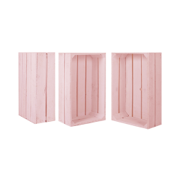 Pack 3 cajas medianas color rosa