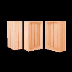 Pack 3 cajas medianas color coral