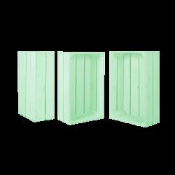 Pack 3 cajas medianas color verde agua