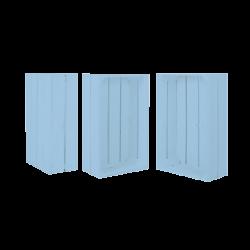 Pack 3 cajas medianas color azul claro