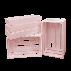 Pack 3 cajas grandes color rosa
