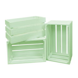 Pack 3 cajas grandes color verde agua