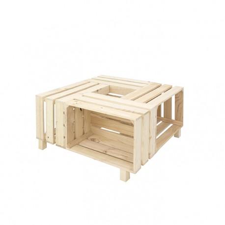 Mesa de cajas natural