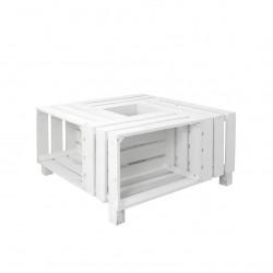 Mesa de cajas pintada blanca