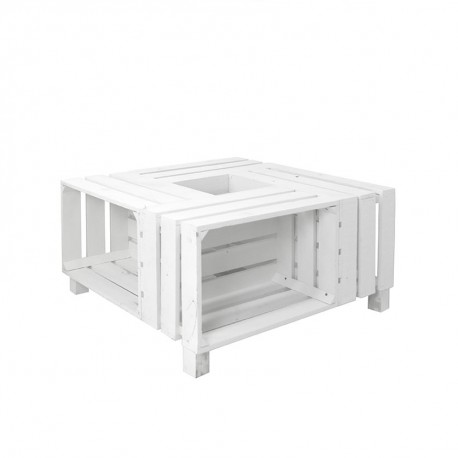 Mesa de cajas pintadas blancas