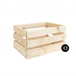Pack 3 cajas grandes naturales