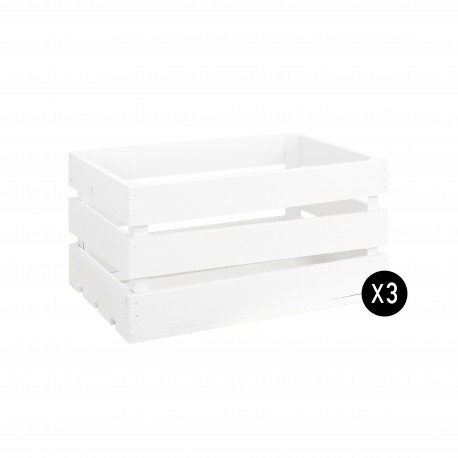 PACK 3 CAJAS COLOR BLANCO GRANDES