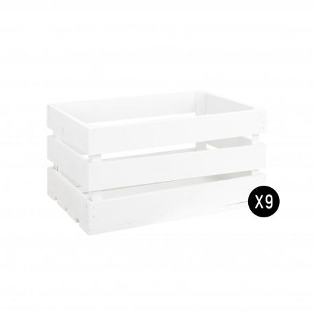 Pack 9 cajas grandes blancas