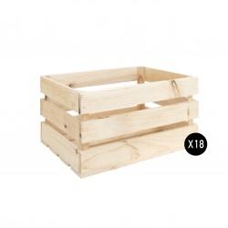 Pack 18 cajas grandes naturales