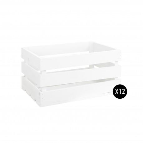 Pack 12 cajas grandes blancas