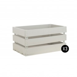 Pack 3 cajas grandes color gris claro