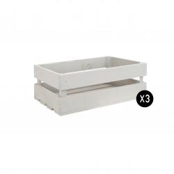 Pack 3 cajas medianas color gris claro