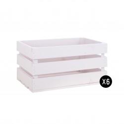 Pack 6 cajas grandes color rosa pastel